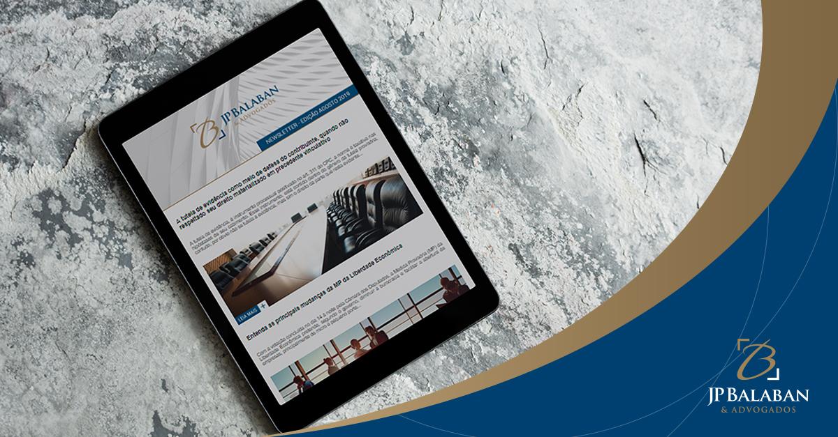 Newsletter edição 29 – Agosto/2019